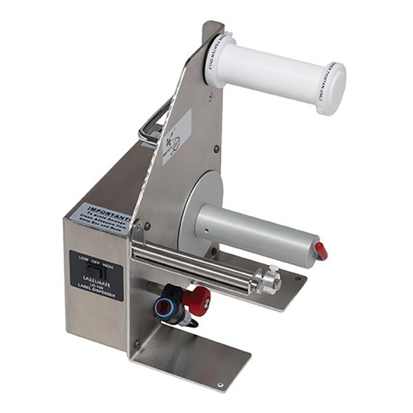 Powered Stainless Steel Label Dispenser