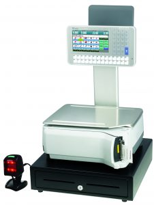 Elevated Touch Screen Weigh Price Labelling POS Scale - SM5300E